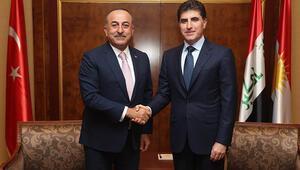Çavuşoğlu Erbilde IKBYnin yeni başkanı Neçirvan Barzani ile görüştü