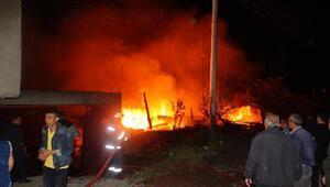 Domaniçte ev ve ahır yandı