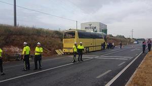 Bandırmada feci otobüs kazası