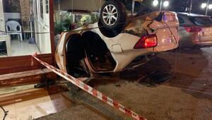 Sancaktepede otomobil takla attı: biri ağır, 2 yaralı