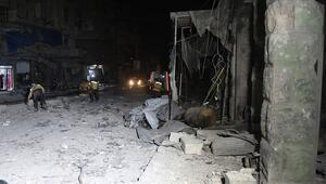 İdlib Gerginliği Azaltma Bölgesine hava saldırılarında çok sayıda ölü var