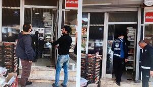 Torbalıda Suriyelilere ait ruhsatsız işletmeler Belediye tarafından kapatıldı