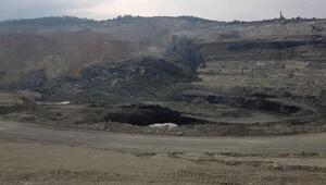 Orhanelide kömür ocağında heyelan meydana geldi