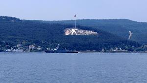 Rus savaş gemisi Veliky Ustyug Çanakkale Boğazı'ndan geçti