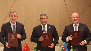 7. Azerbaycan-Gürcistan-Türkiye Savunma Bakanları Üçlü Görüşme Toplantısı protokolü imzalandı