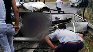 TIRla çarpışan kamyonetin sürücüsü öldü