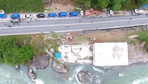 Fırtına Vadisinde kaçak yapıların yıkımı sürüyor