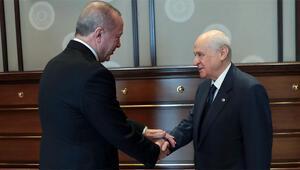 Cumhurbaşkanı Erdoğan ile Bahçeli görüşmesi sona erdi