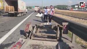 Tem otoyolu Kurtköy mevkiinde zincirleme trafik kazası