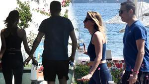 Fikret Orman ve sevgilisi Tuğba Coşkun yürüyüşte Kameraları fark edince...