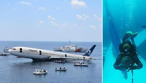 Sarosa batırılan uçağa ilk dalış yapıldı