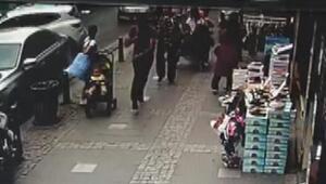 Facianın eşiğinden dönülen Ümraniyedeki kaza güvenlik kamerasında