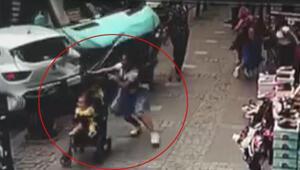 Ümraniyede facianın eşiğinden dönülen kaza güvenlik kamerasında
