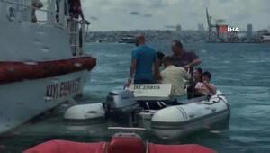 Kadıköyde can pazarı Tekne devrildi