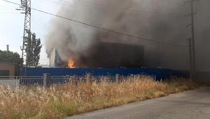 Torbalıda geri dönüşüm fabrikasında yangın