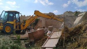 Türkiyenin önemli turizm merkezlerinden... Ve yıkım yeniden başladı