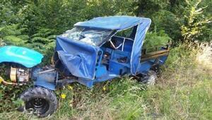 Pervaride tarım aracı devrildi: 1 ölü, 2 yaralı