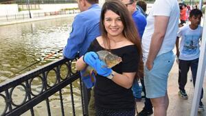 Balıkesirde Yakala, sev, bırak' isimli balık tutma etkinliği