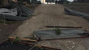 Ankarada şiddetli rüzgar çatıları uçurdu