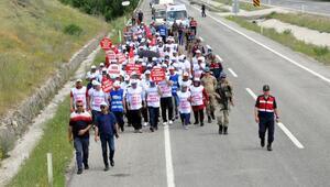 Boludan Ankaraya yürüyen işçiler, Kahramankazana ulaştı