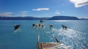 Grönlanda yolculuk: Buzul eridi, uzmanlar zor durumda kaldı
