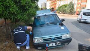 Bagajdaki krikoyu alıp, otomobilin dört lastiğini çaldılar