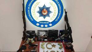 Aksarayda silah kaçaklığı operasyonu: 10 gözaltı