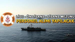 Kıyı Emniyeti Genel Müdürlüğü personel alımı yapacak Başvuru şartları neler