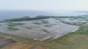 Bursada tarım arazileri su altında kaldı
