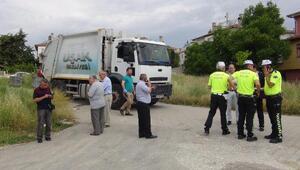 Çöp kamyonunun çarptığı yaşlı kadın öldü