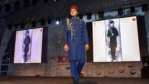 Amasyada Atatürkün kıyafetleri defilesine ilgi