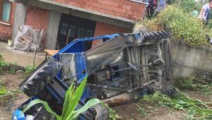 Zonguldakta tarım aracı devrildi: 1 ölü, 1 yaralı