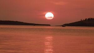 Foçada gün batımı güzelliği
