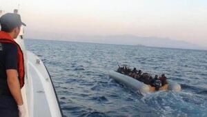 Çeşme açıklarında 78 kaçak göçmen yakalandı