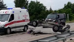 Otomobil takla attı: 1,5 aylık bebek öldü, 5 kişi yaralandı