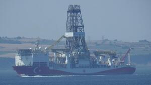 Yavuz sondaj gemisi, Çanakkale Boğazından geçti