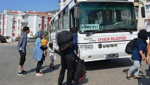 Ayvalıkta 58kaçak göçmen yakalandı