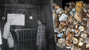 Kapalı madenden çalmışlar... Her şey kamerada Diaspor kristali operasyonu