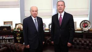 Bakan Akar, MHP Genel Başkanı Bahçeli ile görüştükten sonra konuştu