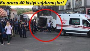 Son dakika Edirnede göçmenleri taşıyan araç kaza yaptı 10 kişi öldü...