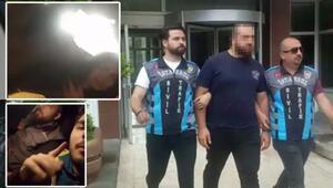 """İstanbul'da """"drift"""" ve """"makas"""" atarak genç kızı çığlık çığlığa bırakan maganda yakalandı"""