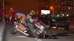 Otomobille engelli motosikleti çarpıştı: 1 ölü, 1 yaralı