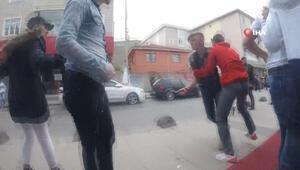 Sultanbeyli'de gençlerin bıçaklı kavgası kamerada