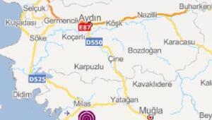 Milasta 3,4 büyüklüğünde deprem