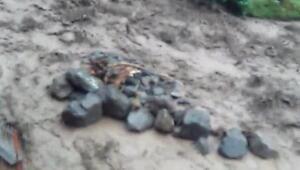 Araklıda sel felaketinde ölen kişinin suya kapıldığı anlar ortaya çıktı
