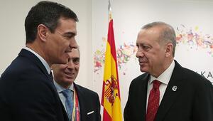 Cumhurbaşkanı  Erdoğan, İspanya Başbakanı Sanchezi kabul etti