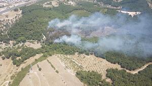 Bucada çıkan yangında 5 hektarlık orman zarar gördü