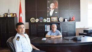 Jandarma Komutanından Kaymakam Çalık'a veda ziyareti