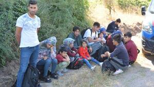 Çanakkalede 45 kaçak göçmen yakalandı