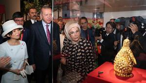 Cumhurbaşkanı Erdoğandan Japonyada sergi ziyareti